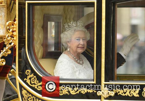 Queen Elizabeth II attends the State Opening of...