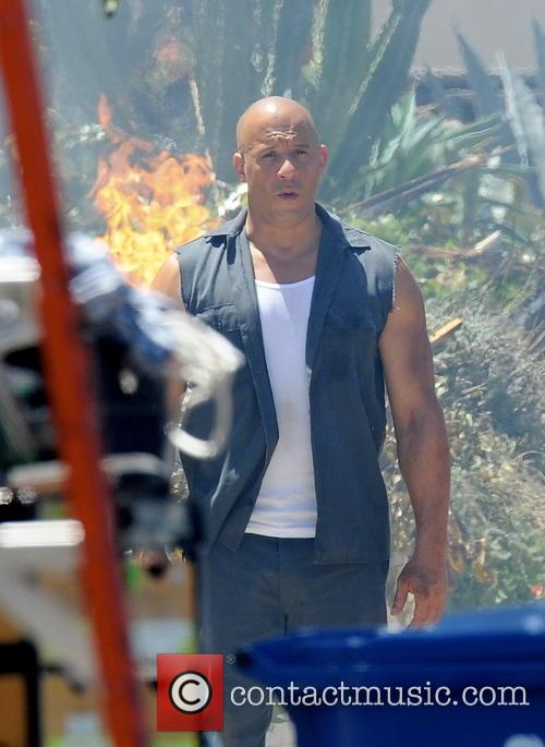 vin diesel celebrities filming on the set 4229815