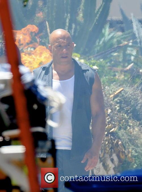 vin diesel celebrities filming on the set 4229872