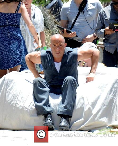 vin diesel celebrities filming on the set 4229880