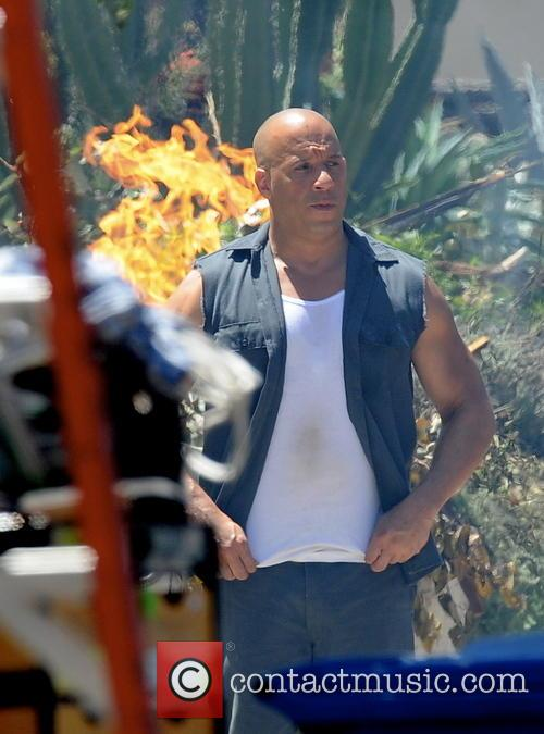 vin diesel celebrities filming on the set 4229893