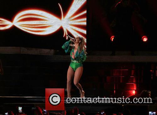 Jennifer Lopez performing at the State Farm Neighborhood Sessions
