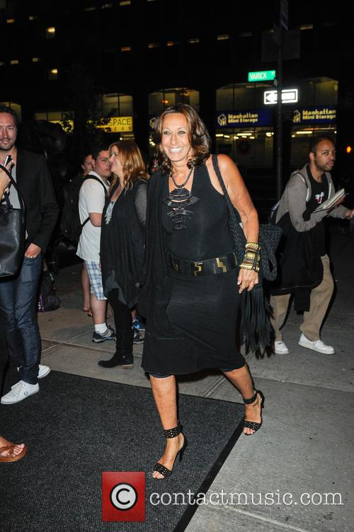 Donna Karan leaving the Trump Soho Hotel