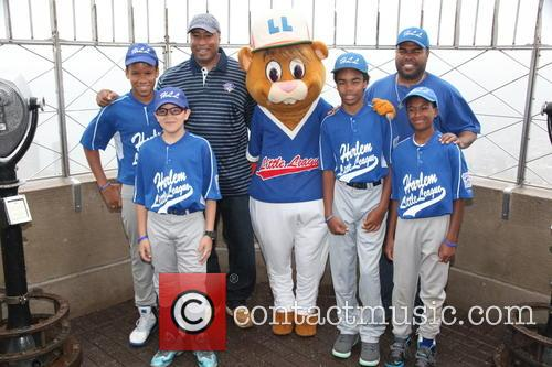 Bernie Williams, Harlem Little Leaguers and Dougout