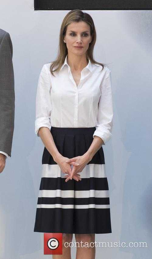 Prince Felipe and Princess Letizia attend the European...