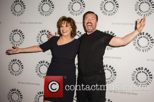 Joy Behar and Ricky Gervais 2