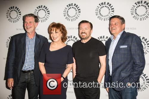 Reed Hastings, Joy Behar, Ricky Gervais and Ted Sandros 1