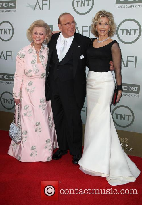 Barbara Davis, Clive Davis and Jane Fonda 2