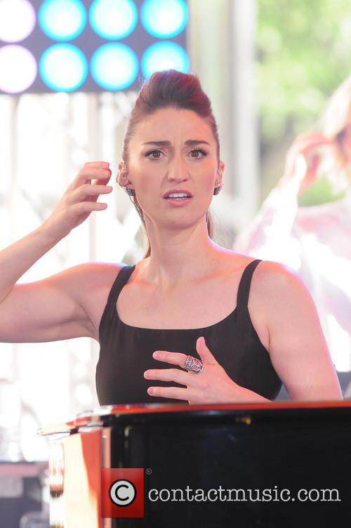 Sara Bareilles performing live on the 'Today' show