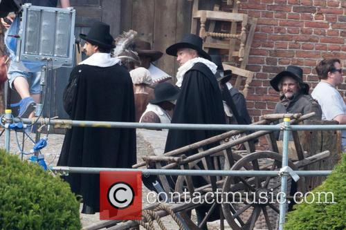 On the set of 'Tulip Fever'