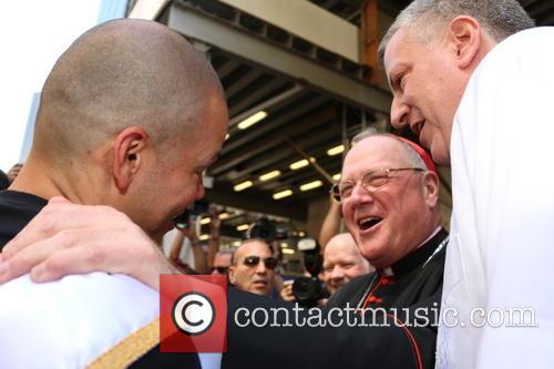 Bill De Blasio, Rene Perez and Cardinal Dolan 4