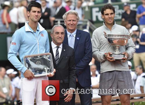 Novak Djokovic, Jean Gachassin, Bjorn Borg and Rafael Nadal 3