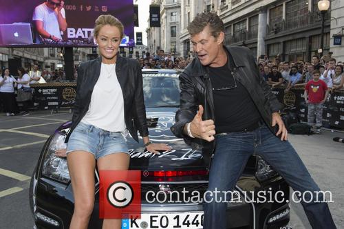 David Hasselhoff and Hayley Roberts 11