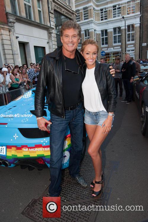 David Hasselhoff and Hayley Roberts 2