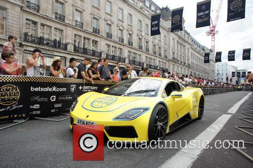 The 2014 Gumball 3000 arrives on London's Regent...
