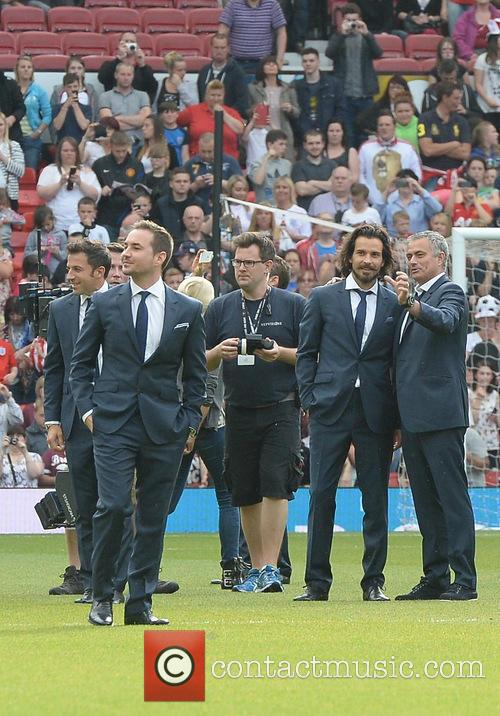 José Mourinho, Santiago Cabrera and Martin Compston 2