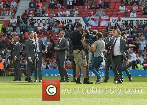 Olly Murs, Marvin Humes, David Seaman and John Bishop 3