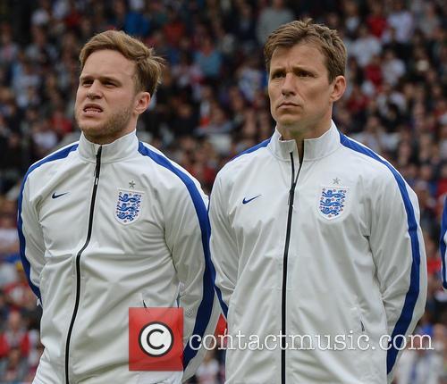 Olly Murs and Ben Shephard