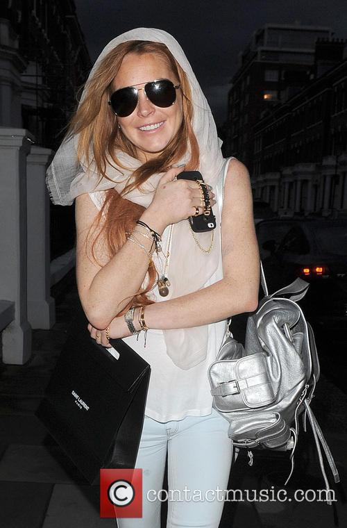 Lindsay Lohan out and about in London