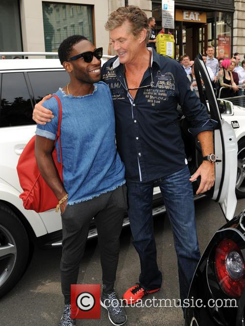 David Hasselhoff and Tinie Tempah at Gumball