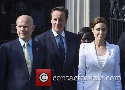 William Hague, Angelina Jolie and David Cameron