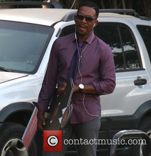 Bill Bellamy On Set Fliming New Movie