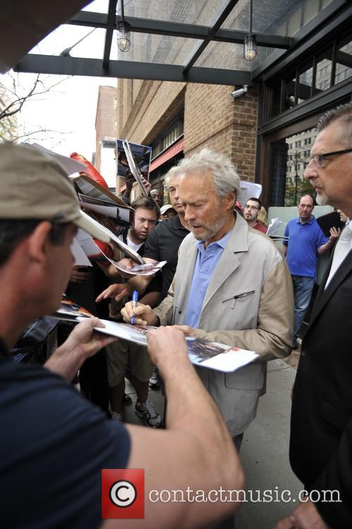 Clint Eastwood leaves his hotel in Manhattan
