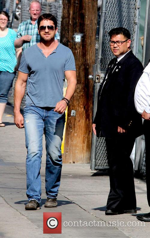Gerard Butler Arriving At Jimmy Kimmel Live