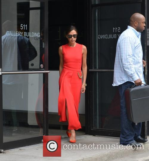 Victoria Beckham leaving a studio in New York