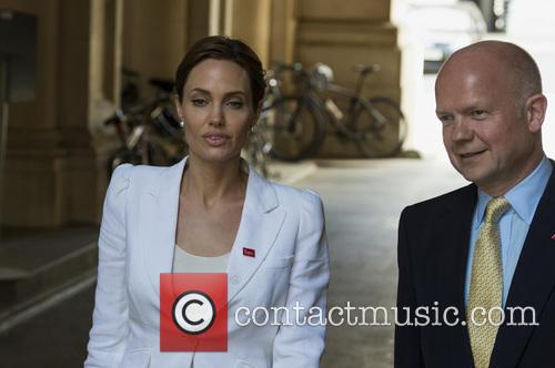 Angelina Jolie and William Hague 1