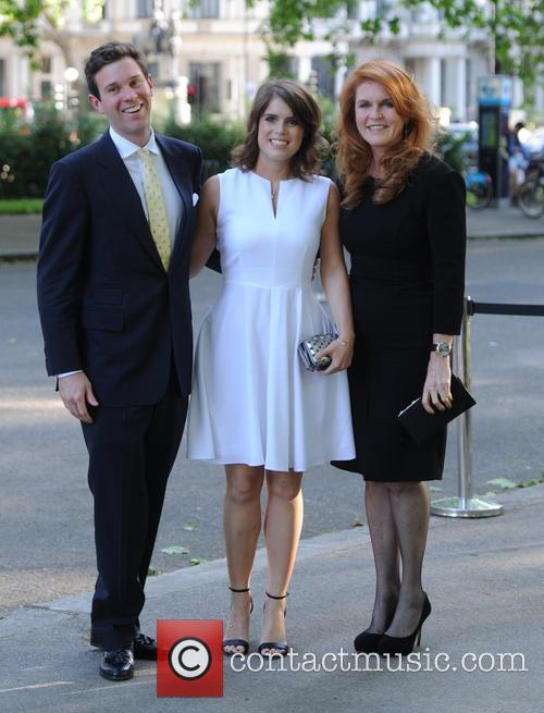 Alasdair Haynes, Princess Eugenie Of York, Duchess Of York and Sarah Ferguson 2