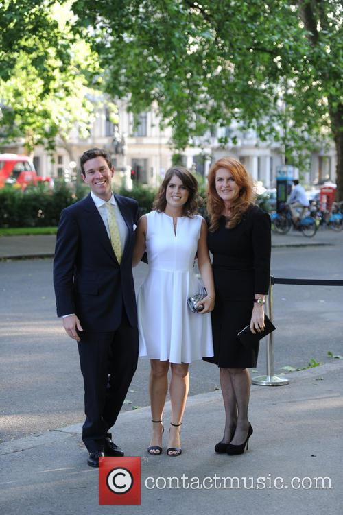 Alasdair Haynes, Princess Eugenie Of York, Duchess Of York and Sarah Ferguson 6