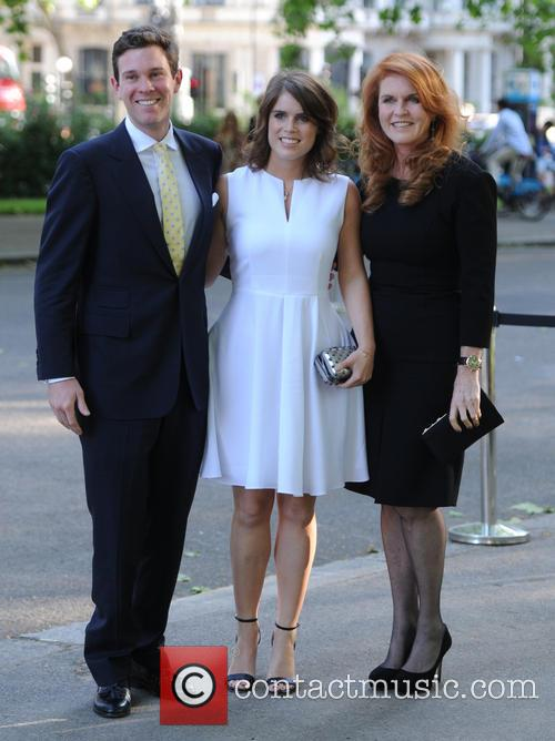 Alasdair Haynes, Princess Eugenie Of York, Duchess Of York and Sarah Ferguson 1