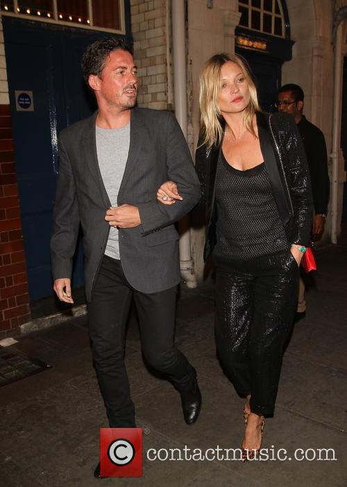 Kate Moss Leaves J Sheekey Restaurant