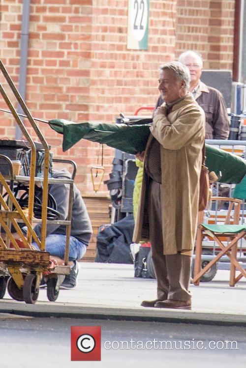 Dustin Hoffman Filming