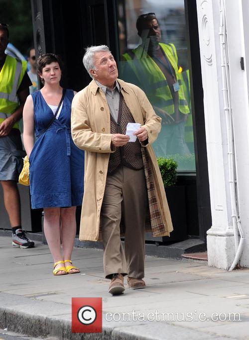 Dustin Hoffman filming in London