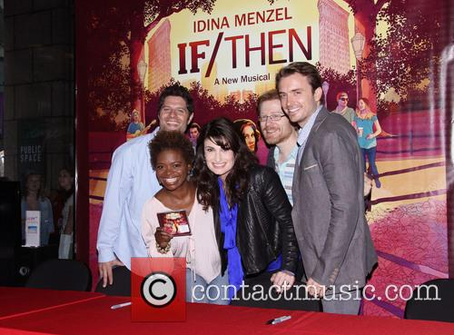 Tom Kitt, Lachanze, Idina Menzel, Anthony Rapp and James Snyder 3