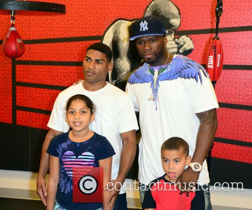 "Brenda Gamboa, Yuriorkis ""the Cyclone Of Guantanamo"" Gamboa, Yuriorkis Gamboa, 50 Cent, Curtis James Jackson Iii and Yuriorkis Gamboa Jr. 2"