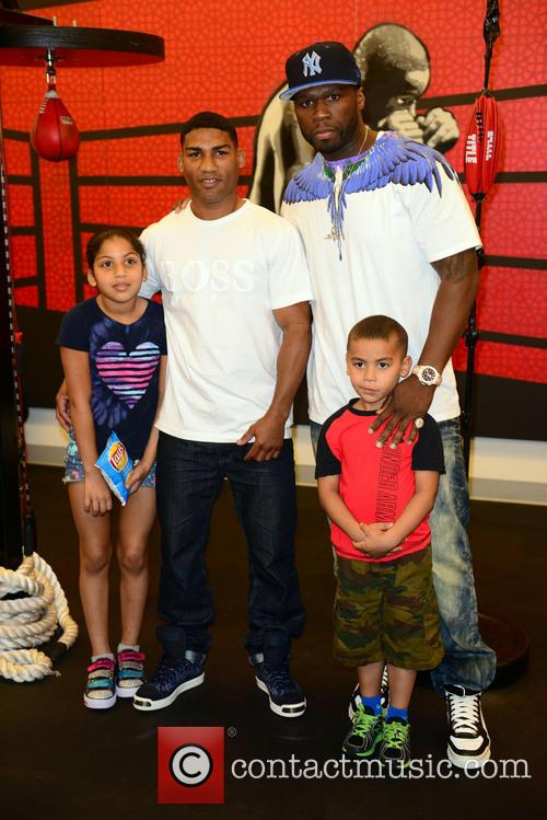 "Brenda Gamboa, Yuriorkis ""the Cyclone Of Guantanamo"" Gamboa, Yuriorkis Gamboa, 50 Cent, Curtis James Jackson Iii and Yuriorkis Gamboa Jr. 1"