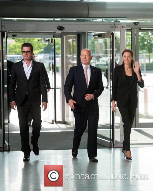 Brad Pitt, William Hague and Angelina Jolie 2