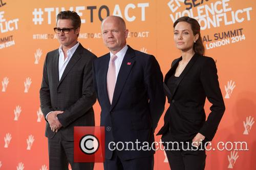 Brad Pitt, William Hague and Angelina Jolie 3