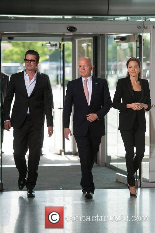Brad Pitt, William Hague and Angelina Jolie 4