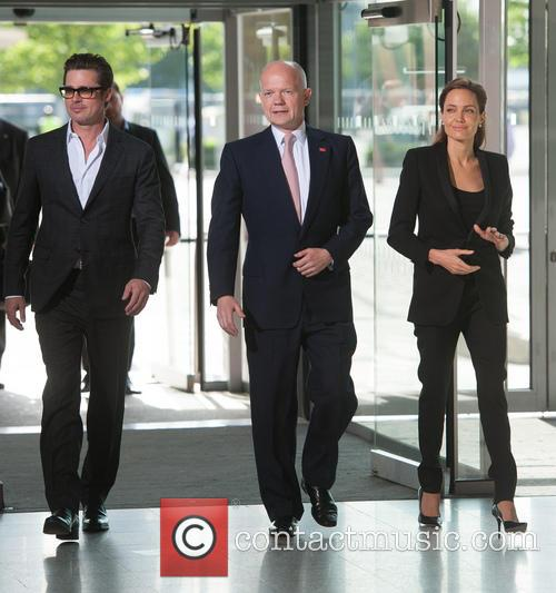 Brad Pitt, William Hague and Angelina Jolie 11