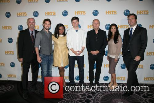 Mindy Kaling, Rob Mcelhenney, Dave Ferrara, Michael Schur, Mike Judge, Bela Bajaria and Matthew Belloni