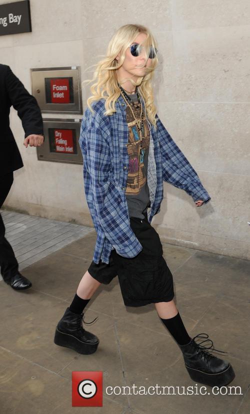 Taylor Momsen arrives at Radio 1