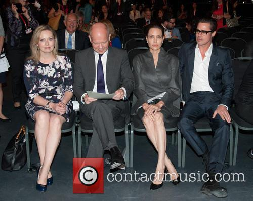 Angelina Jolie, Brad Pitt, Ffion Jenkins and William Hague 4