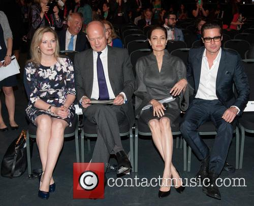 Angelina Jolie, Brad Pitt, Ffion Jenkins and William Hague 7