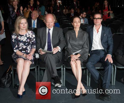 Angelina Jolie, Brad Pitt, Ffion Jenkins and William Hague 9