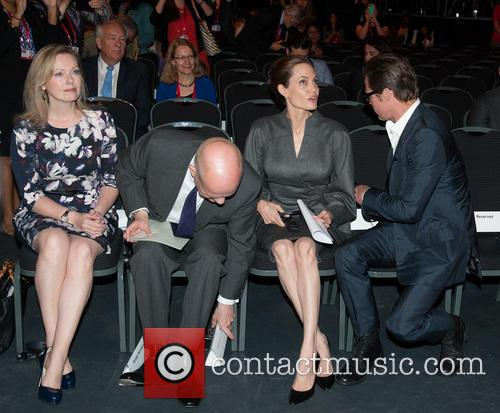 Angelina Jolie, Brad Pitt, Ffion Jenkins and William Hague 11
