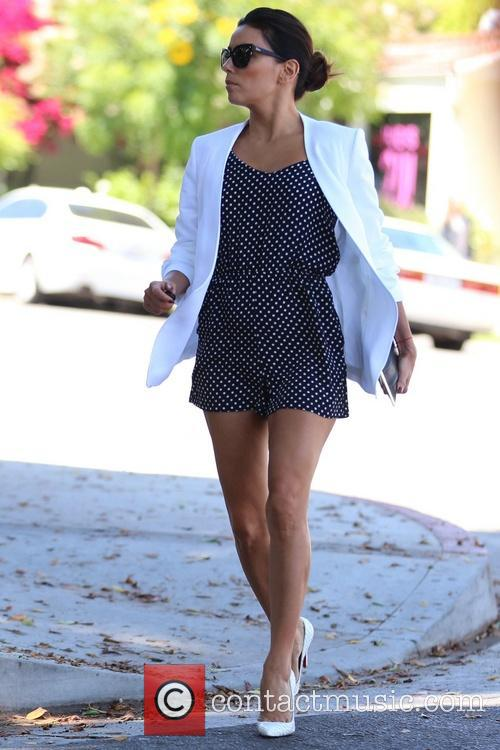Eva Longoria spotted leaving Kevin Paves Salon